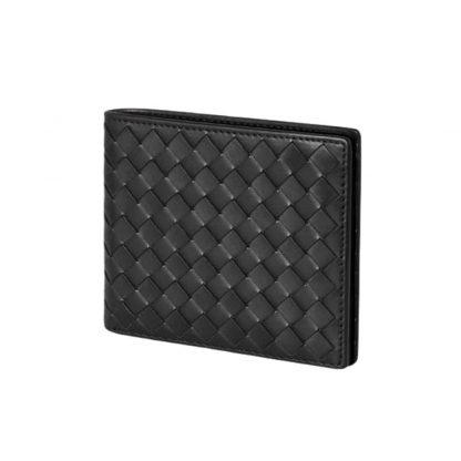 men's wallet handwoven lambskin